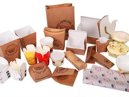 Одноразовая посуда и упаковка из картона для кафе